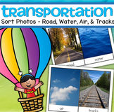 Transportation Sort - Road, Air, Water, Tracks -  32 real photos