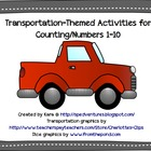 Transportation-Themed Activities for Counting/Numbers 1-10