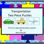 Transportation Two Piece puzzles