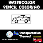 Transportation Watercolor Pencil Fine Motor Skills Activities