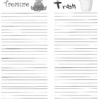 """Trash or Treasure"" recording page for Daily 5"