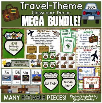 Travel Classroom Theme MEGA Bundle