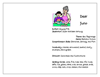 Treasures: (3rd Grade) Dear Juno Activity Booklet