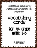 Treasures 4th Grade Vocabulary Cards