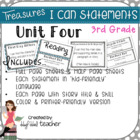 "Treasures ""I Can"" Posters-Unit 4 Reading Comprehension (Grade 3)"