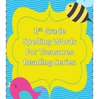 Treasures Reading Resources - 1st Grade Spelling Words Word Cards