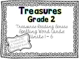 Treasures Reading Series Spelling Word Cards - Grade 2