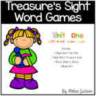 Treasures Sight Word Game Pack Unit 1, First Grade - 4 Games