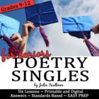 Treating Senioritis with Poetry {A Bundle of Engaging Less