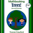 Trees Mathbooking - Math Journal Prompts (3rd and 4th grades)