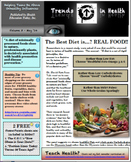 Trends in Health Newsletter Vol. 3 FREE: The Best Diet Is…