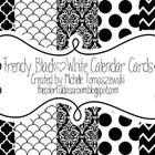 Trendy Black + White Calendar Cards