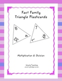 Triangle Flashcards - Fact Family Multiplication and Division