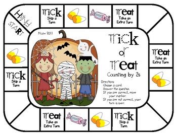 Trick or Treat Game--Counting by 2s