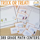 Trick or Treat! Halloween Math Centers: Add, Subtract, Com