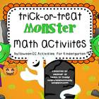 Trick or Treat Monster Math Activities