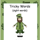 Tricky Words-St. Patrick's Day Sight Word Literacy Center