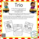 Trio Card Game Spanish 1 Lesson 1- Completed Set!