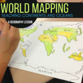 Triple Scoop Lesson:  Mapping Continents and Oceans