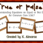 True or False? Understanding Equations as Equal or Not Equ