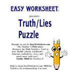 Truth/Lies Logic Puzzle--Improve critical thinking and log