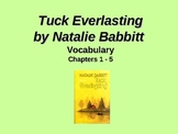 Tuck Everlasting Chapters 1 to 5 Vocabulary PowerPoint