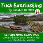 Tuck Everlasting Reading Comprehension Activity Guide