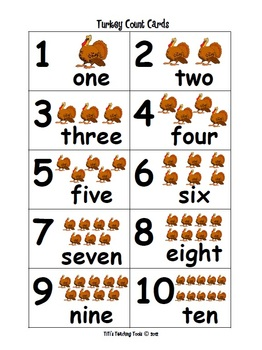 Turkey Count Cards