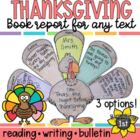Turkey Craftivity / Graphic Organizer for Thanksgiving Rea