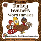 Turkey Feathers Word Families