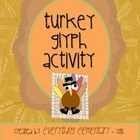 Turkey Glyph Activity (Thanksgiving Math & Language Arts Poetry)