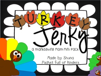 Turkey Jerky {A Mini Math Pack Freebie}