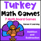 Turkey Math Games Addition and Subtraction