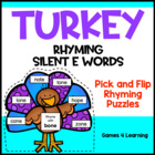Turkey Rhyming Silent e Words