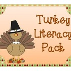 Turkey Themed Literacy Center Activities and Worksheets