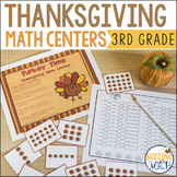 Turkey Time! Thanksgiving Math Centers: Multiply, Round, P