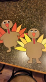 Thanksgiving Turkeys: Tom Turkey Project (5 Turkeys)