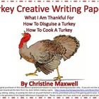 Free! Turkey Writing Paper for Thanksgiving-Various Ages-T