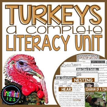 Turkeys - Common Core non-fiction Unit (reading and writing)