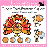 Thanksgiving Turkeys Teach Fractions Clip Art - Personal o