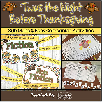 Twas the Night Before Thanksgiving ~ Activities for the Common Core Classroom