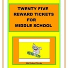 Twenty Five Terrific Motivator Tickets for Middle School