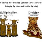 Two Bundled Common Core Center Games - Multiply By Nine an