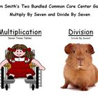 Two Bundled Common Core Center Games - Multiply By Seven a