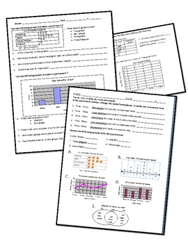 Two Data Analysis/Graphing Assessments with Answers