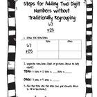 Two Digit Addition Without Traditional Regrouping Handout