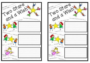 Two Stars and a Wish Peer Assessment Template