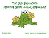 Two digit subtraction matching games with NO regrouping