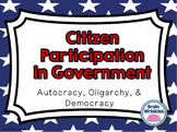 Citizen Participation in Government -- Autocracy, Oligarch