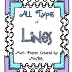 Types of Lines Mini Math Posters Freebie